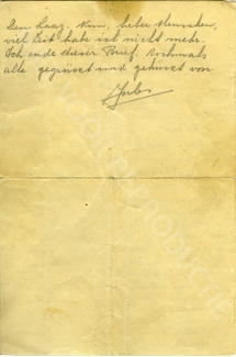 Brief Radom achter Print