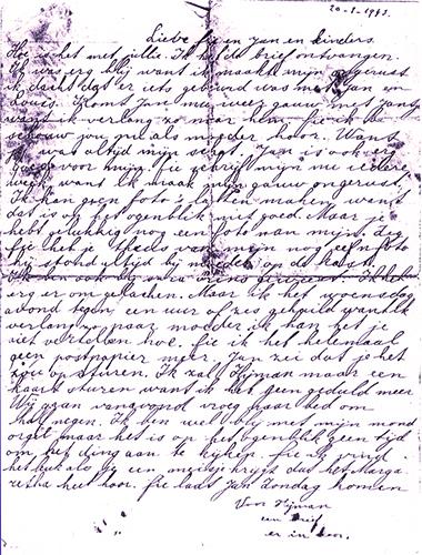 Greta Swart brief 20 jan 43