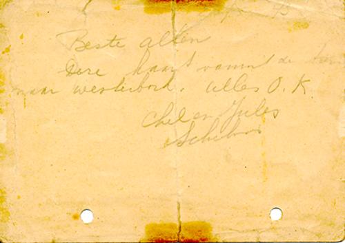 Kaart Lindenbaum achterkant27-5-1943