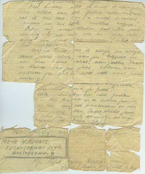 Max Meents briefje gescheurd