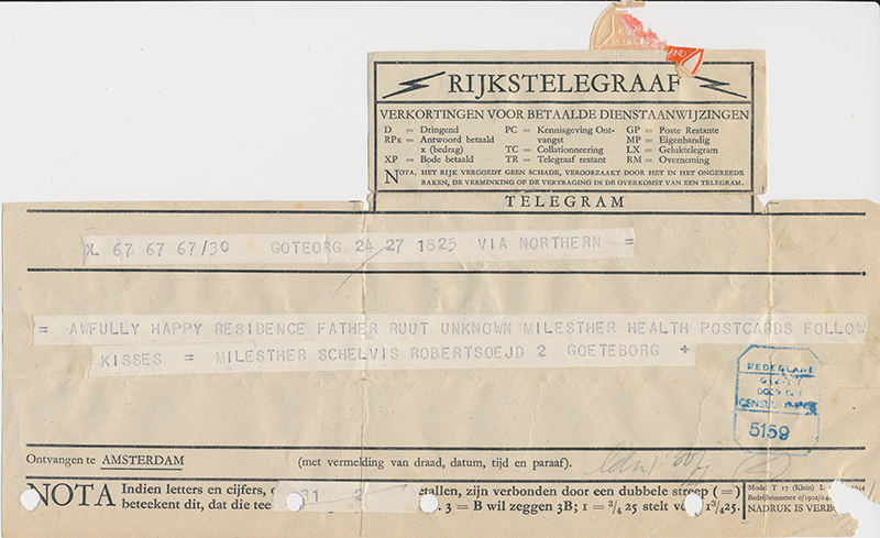 Telegram Jules juli 1945 1