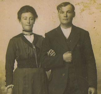 Hermanna de Groot en Pieter de Raaf trouwen 2 mei 1918