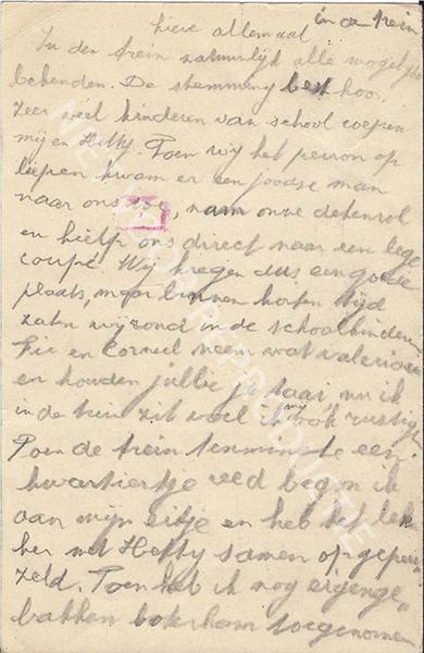 19430422 briefkaart uit de trein (Utrecht)-1