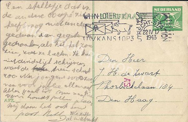 19430422 briefkaart uit de trein (Utrecht)-2