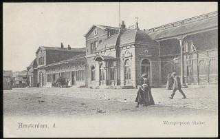 Het Weesperpoortstation, omstreeks 1920